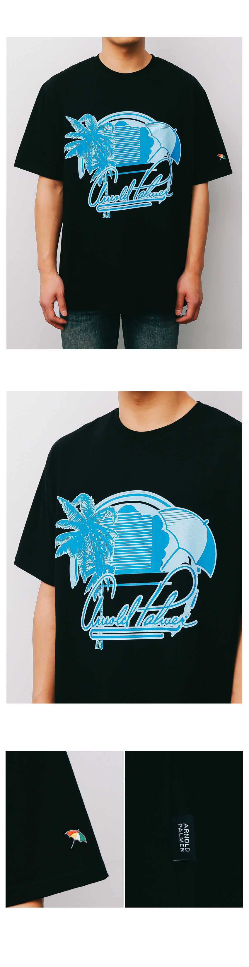 [ARNOLD PALMER X ESN] Palmbrella 1/2 Tee black