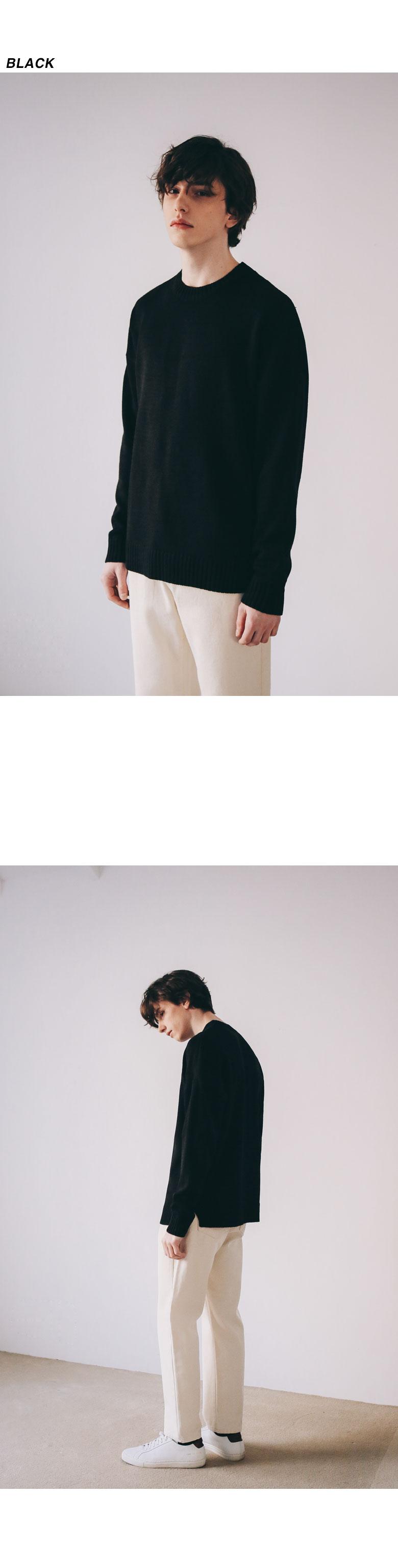 이에스엔 클래식 소프트 크루넥 니트 (7color)